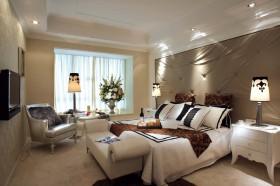 家和盛世奢华舒适的卧室吊顶样板房