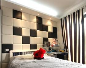 简约风格儿童房床头软包背景墙装修效果图