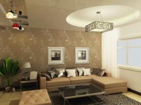 两房一厅现代简约风格客厅沙发装修效果图