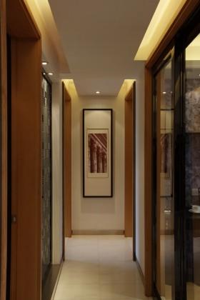 三室两厅简约风格过道装修效果图