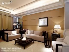 新中式风格客厅家具图片欣赏