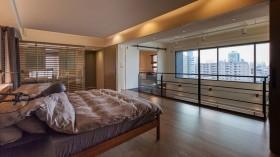 含有原木元素的现代风格卧室装修效果图