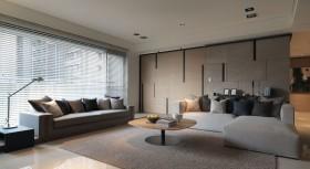 三室两厅细腻温暖现代客厅装修效果图大全