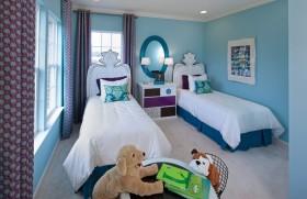 现代蓝色清新的小户型儿童房装修效果图大全2012图片