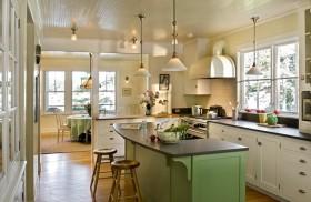 小复式田园风格厨房橱柜装修效果图
