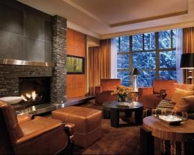 13万打造原木气息北欧风格客厅背景墙装修效果图大全