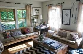 100平方二室二厅客厅装修效果图大全