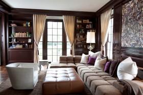 两房一厅美式现代风格客厅装修效果图