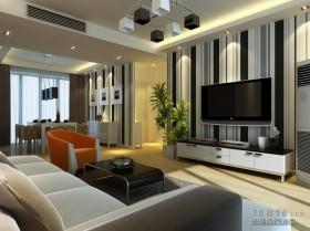 现代电视背景墙效果图-条纹