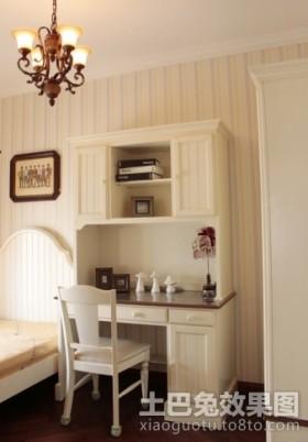 卧室书桌欧式卧室床头书桌搭配图片