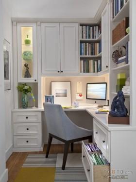 简欧式小书房装修效果图