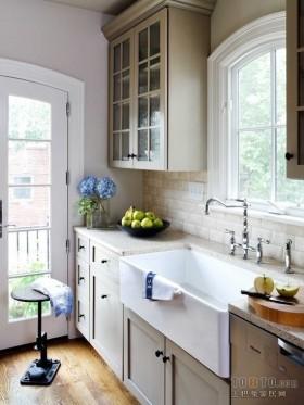 水景阁美式风格80平房屋厨房装修设计图
