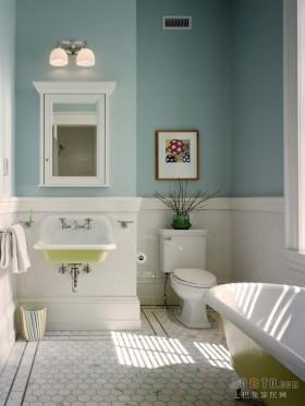 水景阁美式风格80平房屋卫生间装修设计图
