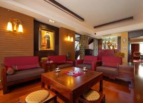 中式风格复式楼客厅装修效果图大全