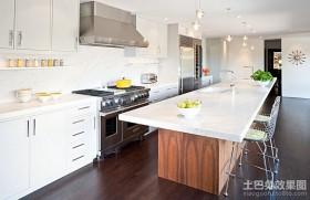 180平白色洁净的复式楼厨房装修效果图大全2012图片