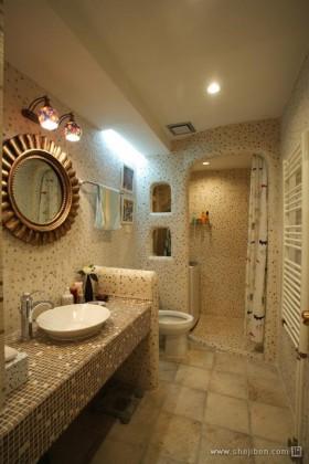 玩转单身公寓地中海风格卫生间装修效果图大全2012图片