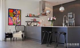 黑色深沉的厨房吊顶装修效果图大全2012图片