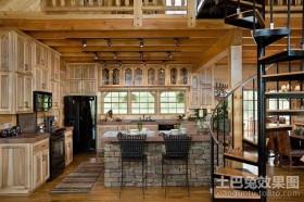 奢华的复式楼厨房装修效果图大全2012图片