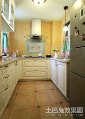 美丽的田园风格厨房橱柜装修效果图大全2012图片
