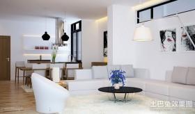 90平米小户型白色的客厅装修效果图大全2012图片