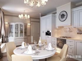 130平米浪漫的家庭餐厅装修效果图大全2012图片