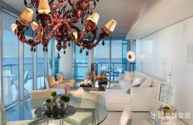 海景别墅图片大全 白色清新的客厅装修效果图大全2012图片
