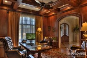 古典欧式风格书房装修效果图大全2012图片