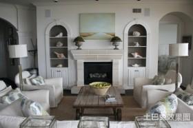 白色中的的田园风格装修客厅图片