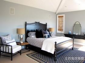 简约元素的美式复式卧室装修效果图大全2012图片