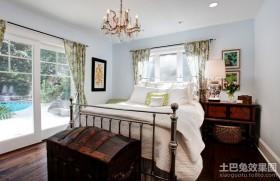 现代气息的田园风格卧室装修效果图大全2012图片