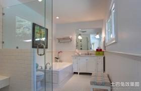 现代气息的卫生间装修效果图大全2012图片