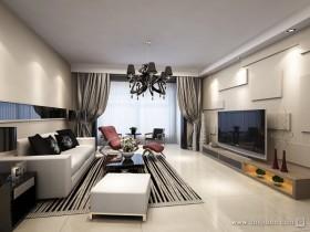 三室两厅简约客厅电视背景墙装修效果图大全2012图片