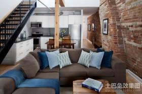 现代复式客厅装修效果图大全2013图片欣赏