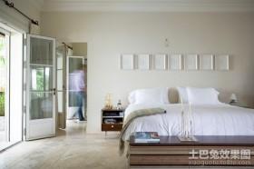 现代豪华简约的卧室装修效果图大全2012图片