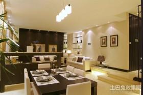 120平米三居室餐厅背景墙装修效果图大全2012图片