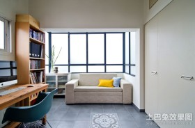 苏格兰风情三居室书房装修效果图大全2012图片
