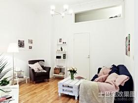 40平超小户型白色简洁之家客厅装修效果图大全2012图片