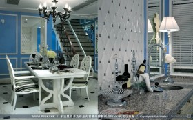 华尔兹恋曲地中海风格餐厅装修效果图大全2012图片
