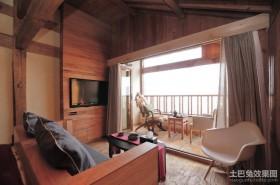 古典原木元素的欧式风格客厅装修效果图大全2012图片
