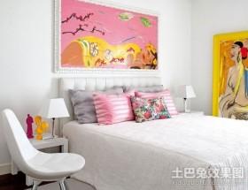 45平米单身MM超靓小公寓卧室装修效果图大全2012图片