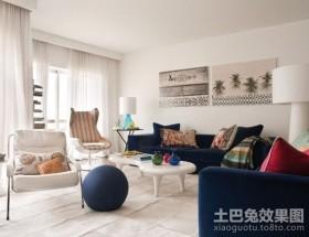 45平米单身MM超靓小公寓客厅装修效果图大全2012图片