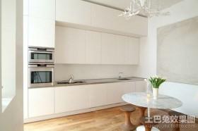 值得借鉴的白色极简复式厨房装修效果图大全2012图片