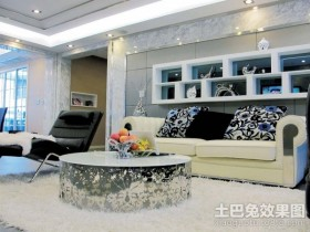 现代时尚的二居室客厅装修效果图大全2012图片