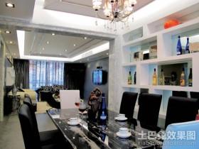现代时尚的二居室餐厅装修效果图大全2012图片