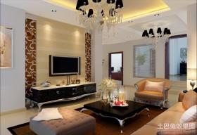 绝对豪华经典的现代风格客厅电视背景墙装修效果图大全2012图片