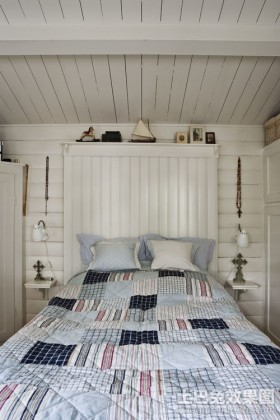 北欧风情50平米小户型卧室装修效果图大全2012图片