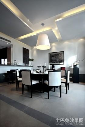 三居室现代餐厅装修效果图大全2012图片