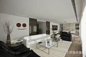 色彩凝重的北欧风格客厅装修效果图大全2012图片