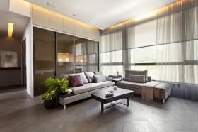 现代风格三居室客厅装修效果图大全