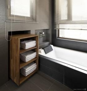 现代风格三居室卫生间装修效果图大全2012图片